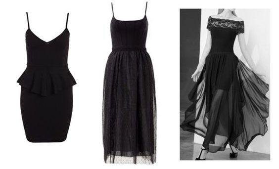 Little black dress for Romantic Kibbe body type.