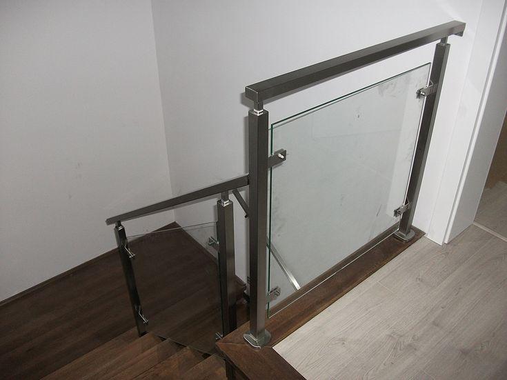 Balustrada wewnętrzna, szkło bezpieczne, stal nierdzewna – Grodzisk Mazowiecki