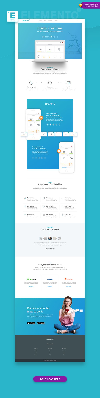 elemento is a versatilemulti purpose sketch template composed of 40 flexible ready - Web Design Project Ideas