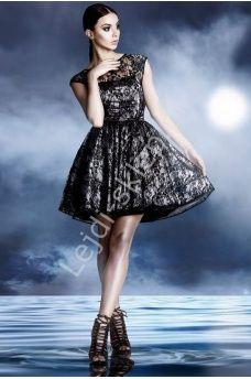 Sukienka studniówkowa, na wesele z koronki + krynolina, mon 249 r. 42 - r. 48