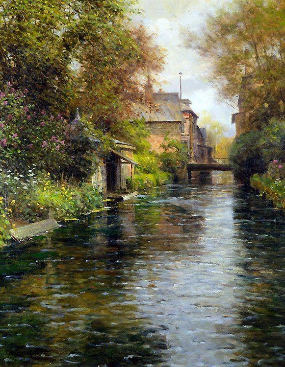 Louis Aston Knight (1873 - 1948) fue un artista Americano, frances de nacimiento ...