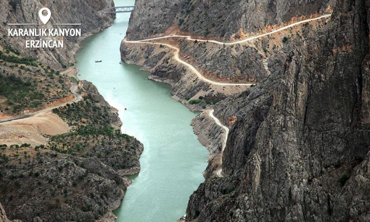 Karanlık Kanyon (The Dark Canyon) in Northeastern Turkey has up to 600m of depth, making it extremely popular for BASE jumping and thrill-seekers!