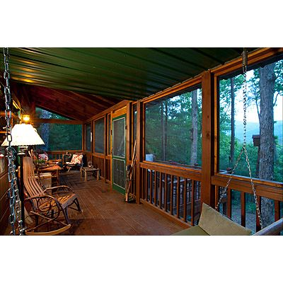 25 best ideas about cabin porches on pinterest log for Log cabin screened in porch
