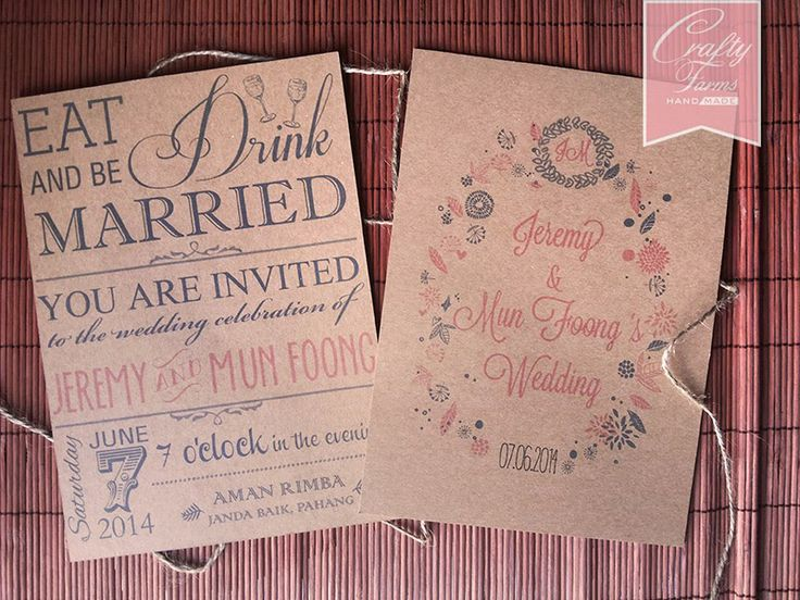 Wedding door gift thank you tags using kraft brown recycled card - formal handmade invitation cards