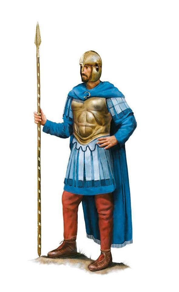Roman officer of the Rhine Fleet, naval operations on the Rhine, 357 AD. Artwork by Tom Croft.