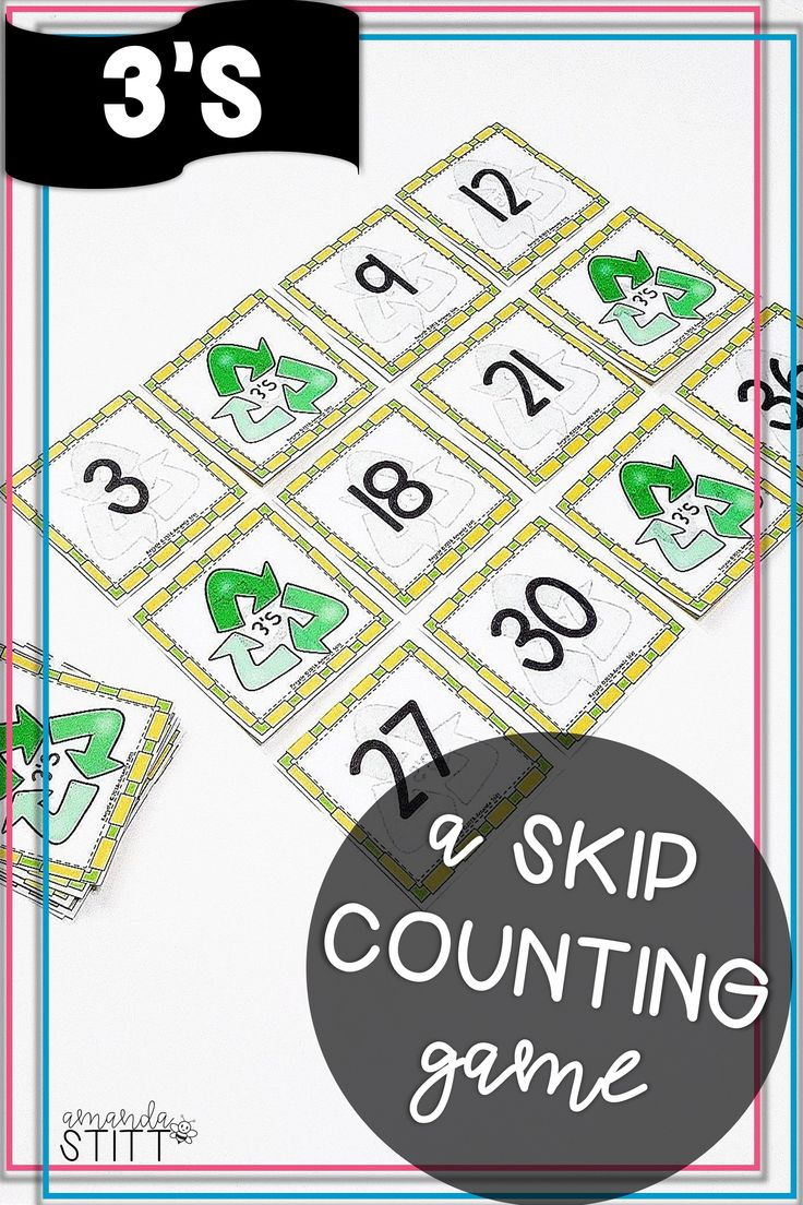 Skip Counting by 3's game Multiplication facts games