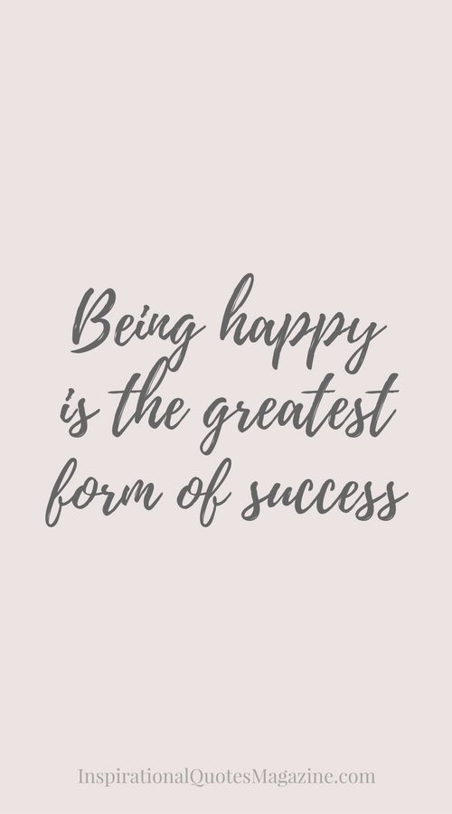 Inspirational Quote about Happiness and Success - Visit us at InspirationalQuotesMagazine.com for the best inspirational quotes!
