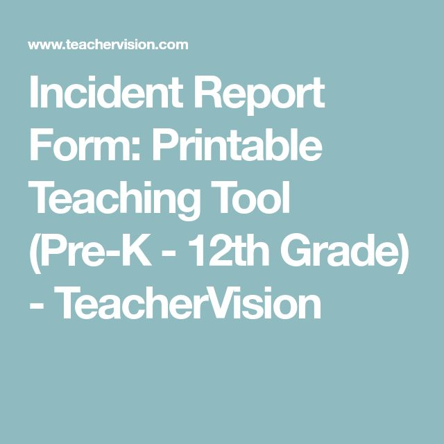 The  Best Incident Report Form Ideas On   Incident