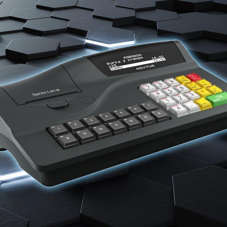 Kasa fiskalna Novitus Sento Lan E łączy w sobie ciekawy design i nowoczesną funkcjonalność. Klawisze szybkiej sprzedaży też robią dobre wrażenie. Polecamy!