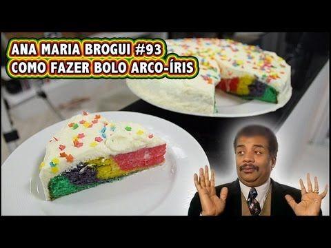Como fazer bolo arco-íris! - YouTube