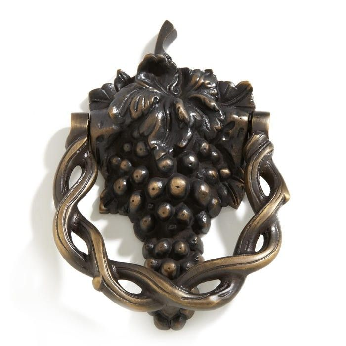 Grapevine Brass Door Knocker