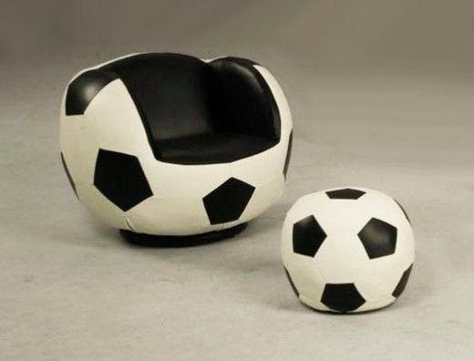 Football Soft Chair Design with Ottoman