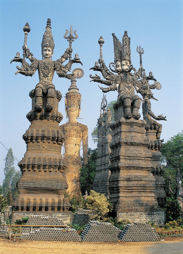 Thailand's answer to the Palais Ideal - Bunleua Surirat's Buddha Park at Nong Khai.  From the Outsider Art Sourcebook.