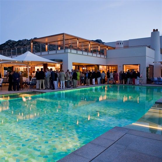 Yacht Club Costa Smeralda (YCCS) in Porto Cervo....right on the ocean!!