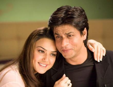 Priety Zinta and Shahrukh