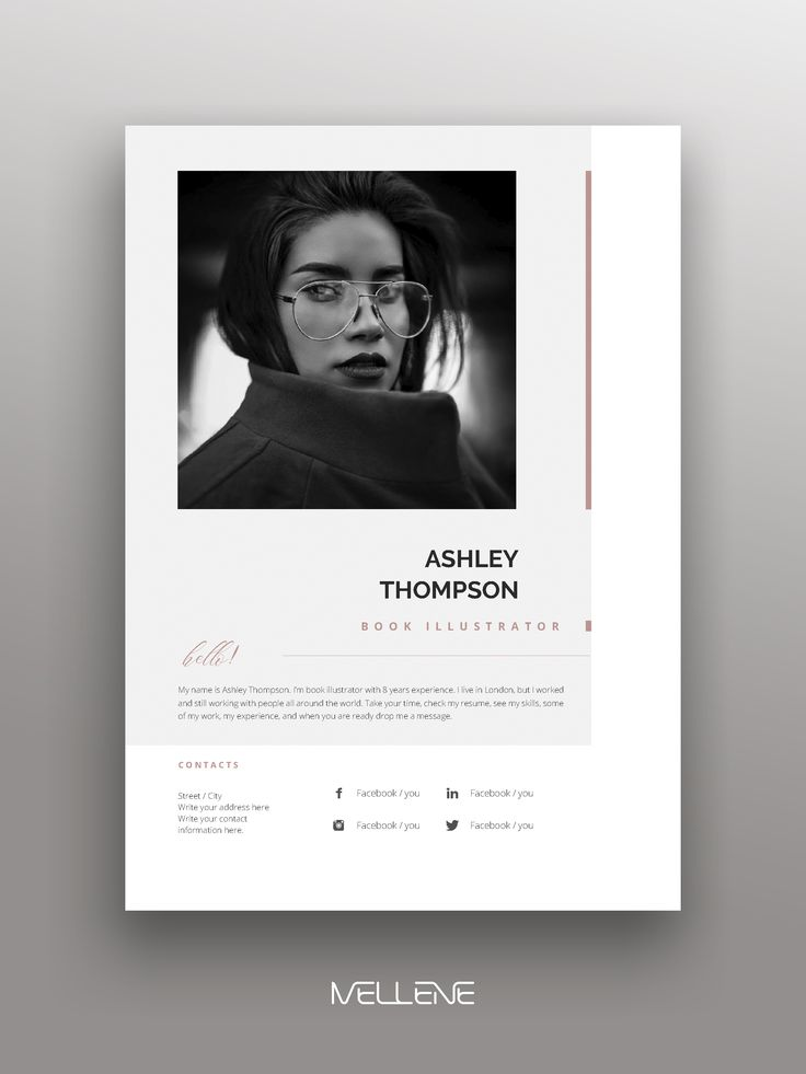 CV / Resume template for MS Word. Professional application, cover letter. Portfolio, branding design