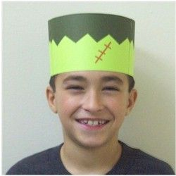 Frankenstein is always a favorite character for Halloween. This Frankenstein Crown can be the beginning of a fun costume. A little green face paint will ca