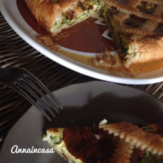 Crostata di zucchine e robiola