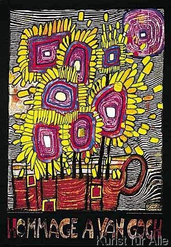 Friedensreich Hundertwasser - Hommage à van Gogh