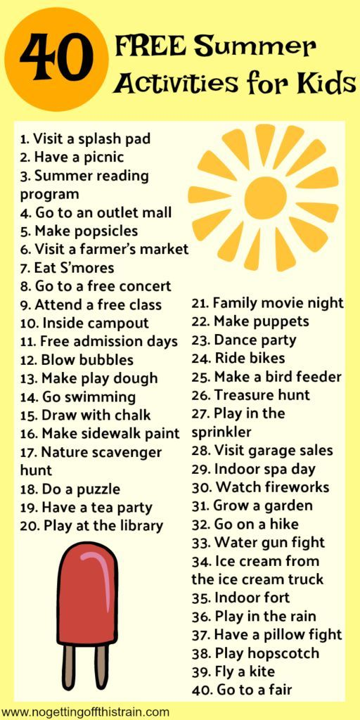 Summer is here! Are you ready to fight the boredom? Here are 40 free and cheap kids summer activities to keep the fun going all summer!