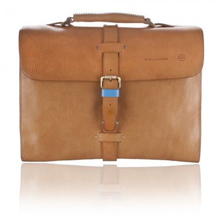 PIQUADRO SARTORIA MADE IN ITALY Briefcase in Genuine Sand Leather CA3000IT/SA  989$ Free Shipping