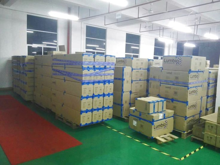 That`s the way how we keep Lumbio® LED lights in factory storage right before delivery to our customers. We use only premium packaging from durable material. Our extensive experience in international and domestic logistics and built relationships with contract carriers ensure carefree safe process of the delivery.