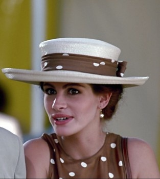 Julia Roberts in, 'Pretty Woman'. Fab.Hat.