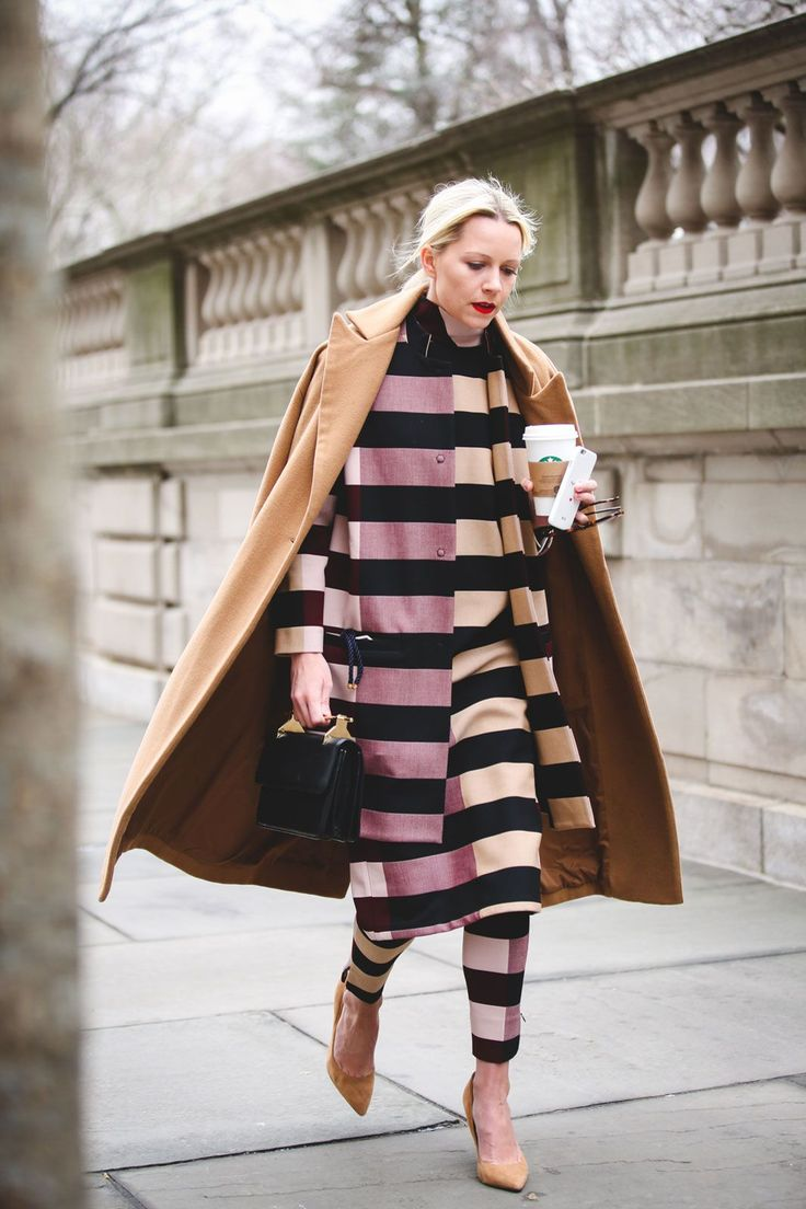 Lessons In Layering From The Streets Of New York City #refinery29  http://www.refinery29.com/2016/02/103173/ny-fashion-week-fall-winter-2016-street-style-pictures#slide-68  Stripes on stripes on stripes....