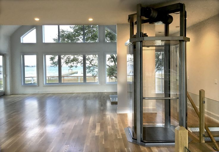 Unobstructed views through the Visilift Octagonal Residential Glass Elevator!