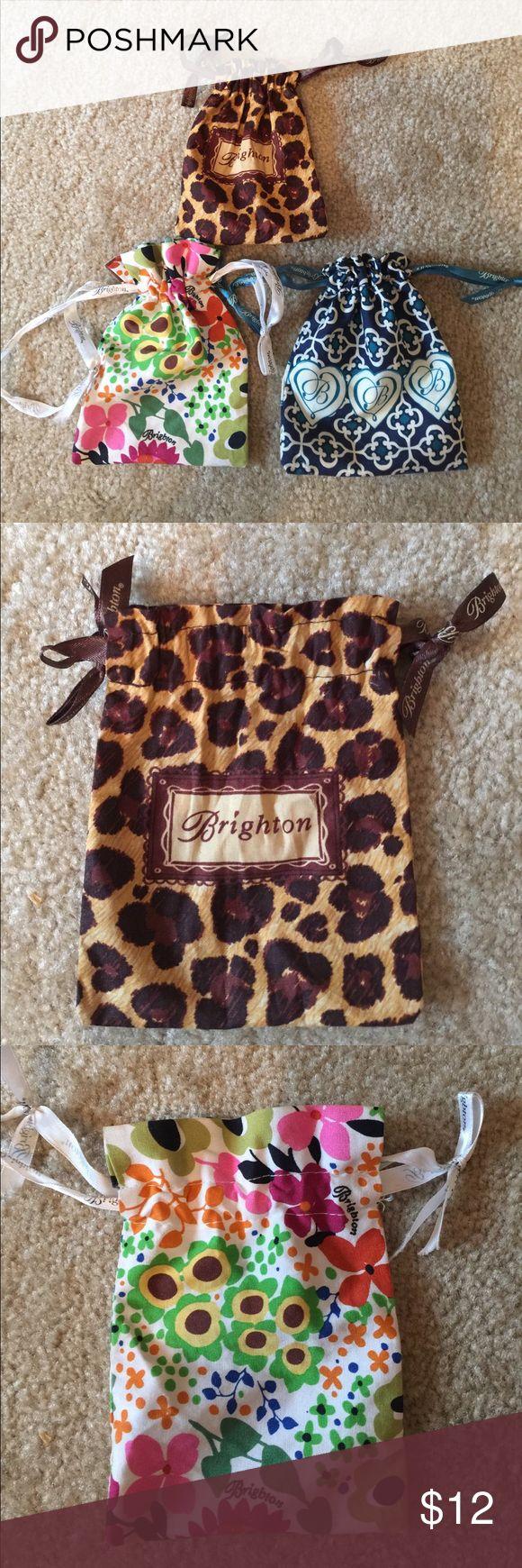 Bundle of 3 BRIGHTON jewelry pouches. BRIGHTON Bundle of 3 Jewelry pouches in excellent condition. Brighton Accessories