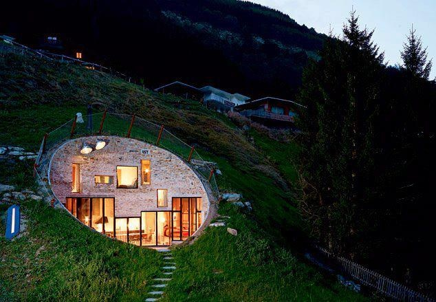 Swiss Berm House Earth Sheltered Homes Underground Homes Earthship