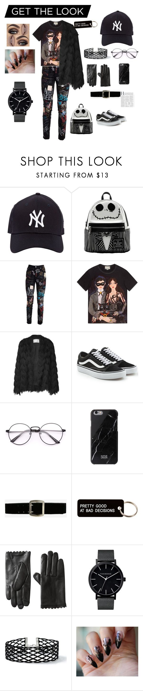 """🖤"" by imfitivy ❤ liked on Polyvore featuring New Era, Dolce&Gabbana, Gucci, Vans, Express, Various Projects, Miss Selfridge and outfit"