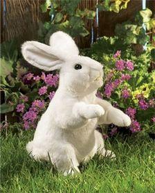 Folkmanis Rabbit, Standing White Hand Puppet - 2868