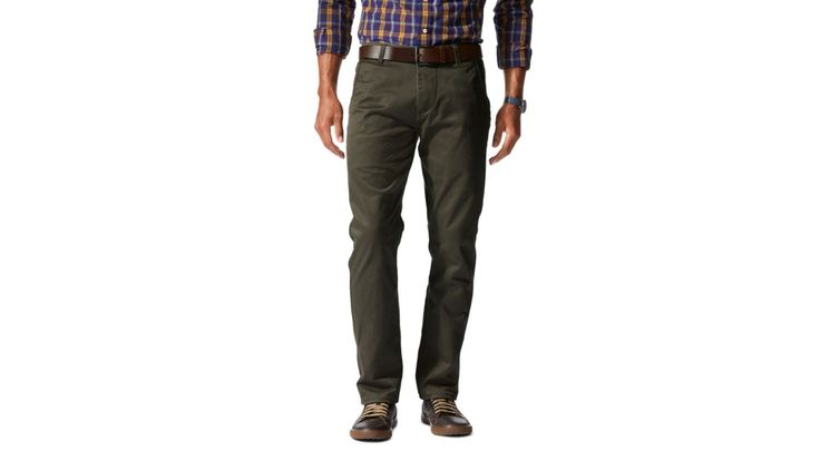 Dockers® Alpha Stretch Khaki, Slim Tapered | OLIVE | Dockers® United States (US)