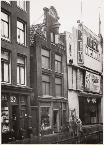 In 1950's there were 3 movie theaters on the Haarlemmerstraat in Amsterdam: Hollandia, Apollo and Rex. In the photo the Rex theater. #amsterdam #1950