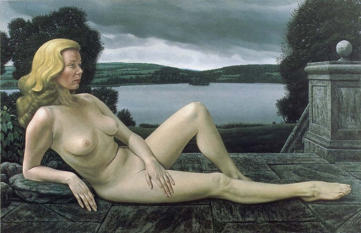 """Rustende Venus II (Venus Resting II), 1978 / Carel Willink (1900-1983) / Collection A.C. Willink, on loan: Centraal Museum, Utrecht, The Netherlands"