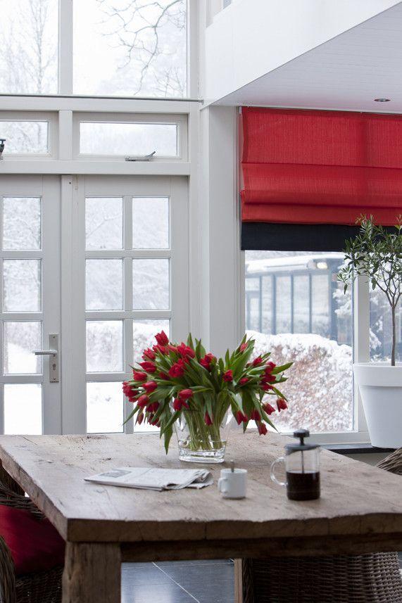 Artelux vouwgordijnen Anna - rood. #interieur #raambekleding #gordijnen #rood #vouwgordijnen