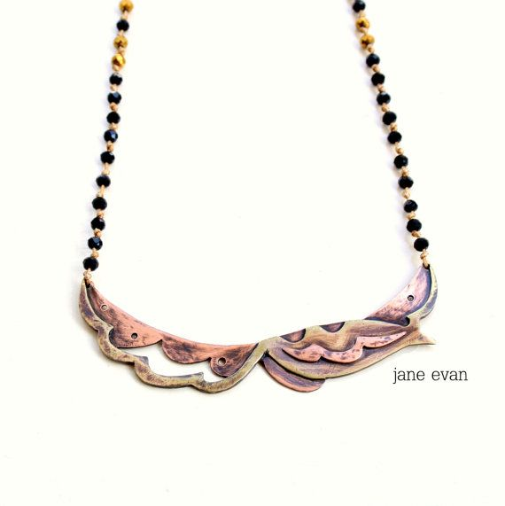 Tribal Paisley 3 Layer Rosario Statement by janeevanmetalwork