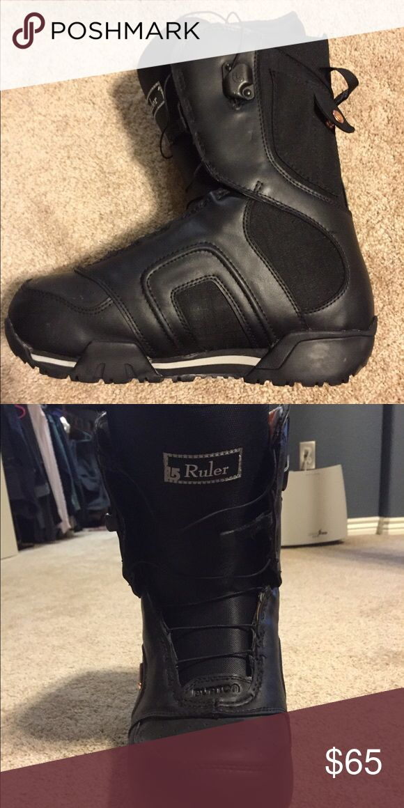 Burton Ruler Men's Snowboard Boots. Like-new Burton Ruler men's snowboard boots. Only worn once! Men's size 8. Burton Other