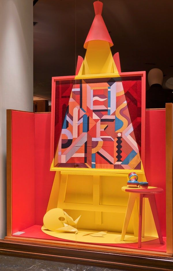 "Hermès,France, display by Dimitri Rybaltchenko and photo by Patrick Burban, ""Shine a Light"", pinned by Ton van der Veer"