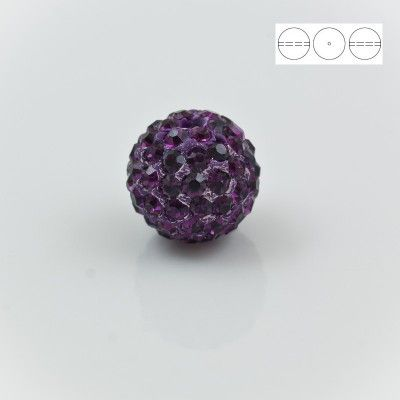 Discoball Bead 12mm Amethyst  Dimensions: 12mm Stones which were used in a ball are from Preciosa Company  1 package = 1 piece