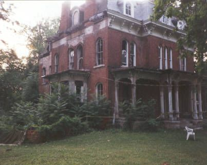 McPike Mansion, Alton, IL - was built in 1869 and is one of the most investigated haunted sites in America. By the 1970's the mansion was falling into ruin. Activity includes disembodied sounds of movement, objects moving on their own, physical attacks and apparitions. Several psychics that have visited have reported a violent male entity that has attacked female visitors.