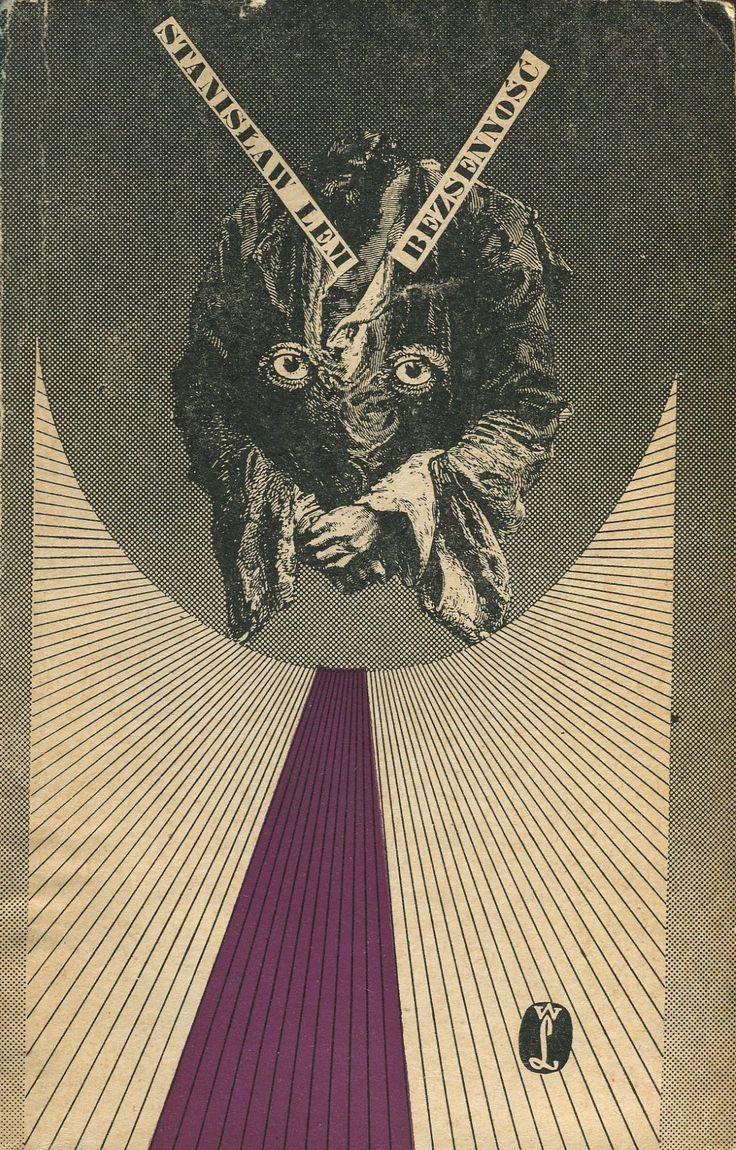 BEZSENNOŚĆ Stanisław Lem, Kraków 1971, Wydawnictwo Literackie, book cover by Daniel Mróz.