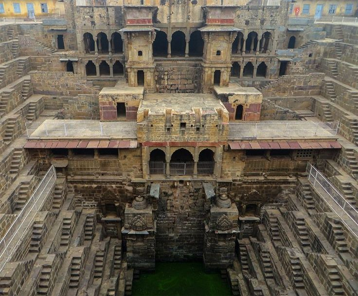 Subterranean stepwell at India