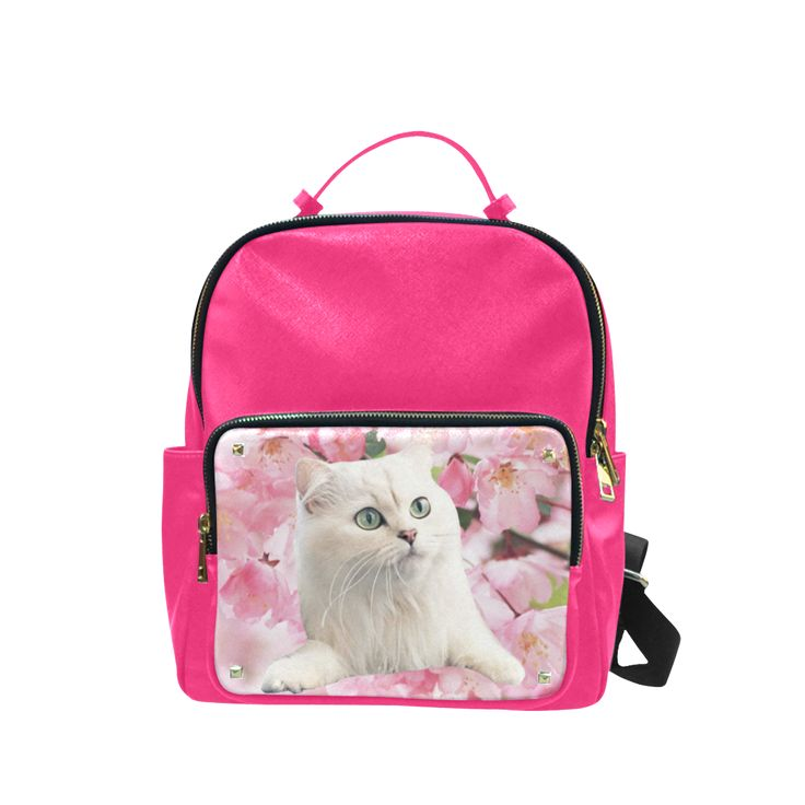 Cat and Flowers Campus Backpack Large . FREE Shipping. #artsadd #lbackpacks #cats