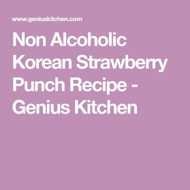 Non Alcoholic Korean Strawberry Punch Recipe - Genius Kitchen