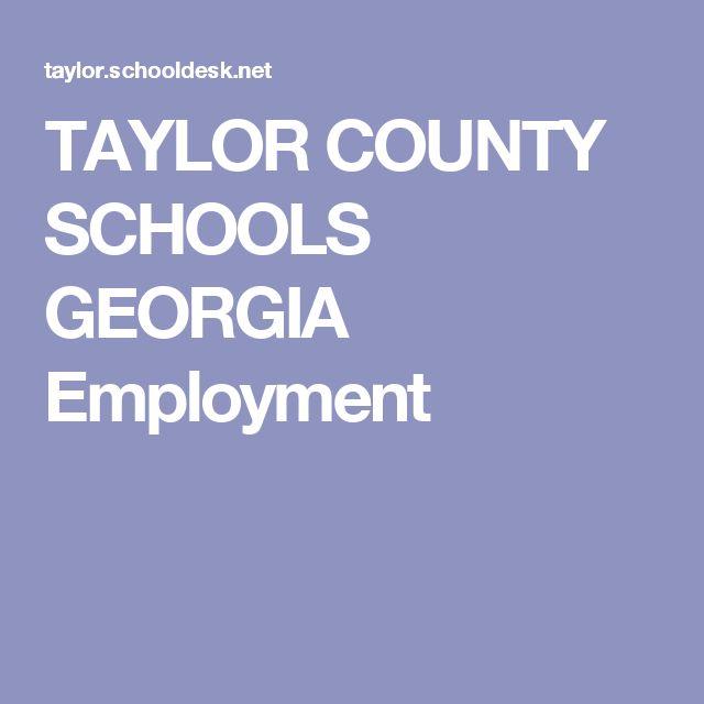 TAYLOR COUNTY SCHOOLS GEORGIA Employment