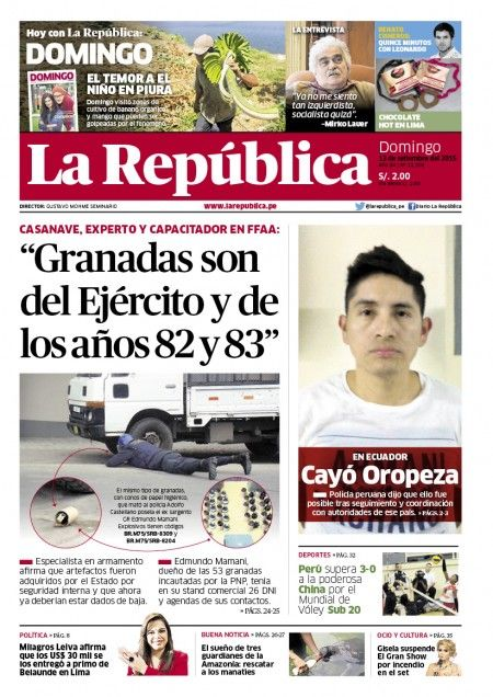 Edición Impresa Lima 13-09-2015   LaRepublica.pe