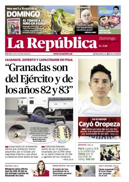 Edición Impresa Lima 13-09-2015 | LaRepublica.pe