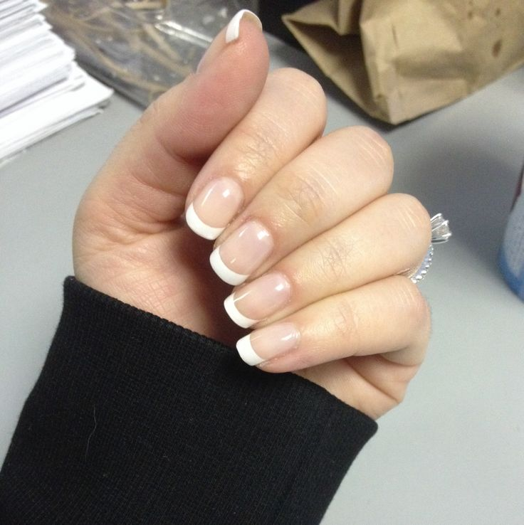 Gel french manicure done by myself! Sensationail gel polish | Nails on